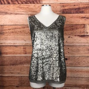 Talbots Silver Sequin Blouse